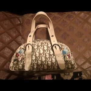 100% Authentic Dior embroidered handbag.